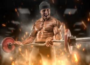 Angry athlete uses legal steroid alternatives training in the gym | Endless Remedies