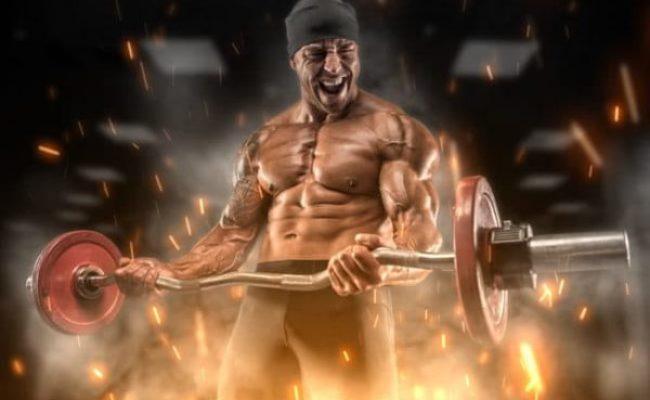 Athlete doing military workout
