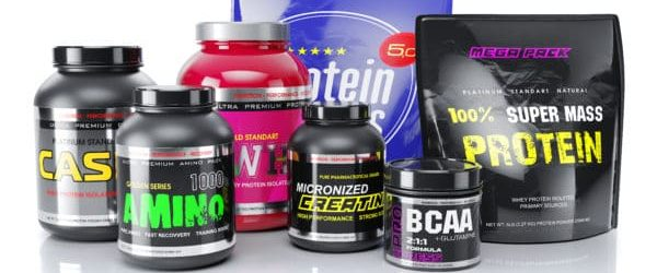 Sports nutrition. Whey, BCAA, amino, protein helps to gain lean muscle