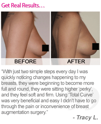 Total Curve breast enhancement pills before and after picture