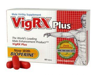 VigRx Plus male virility supplement shown in box
