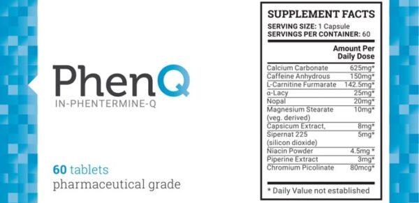 PhenQ Ingredients- Best all natural diet pills