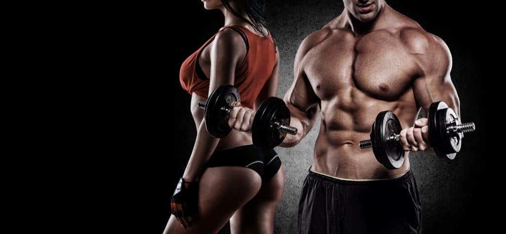 Fit couple working out